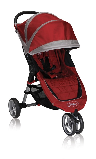 Kočárek Baby Jogger City Mini - Crimson/Grey